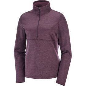 Salomon Transition Camiseta Mid 1/2 Cremallera Mujer, wine tasting/heather
